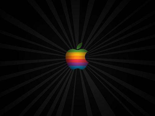 old apple branding