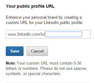 Where to set up your LinkedIn URL