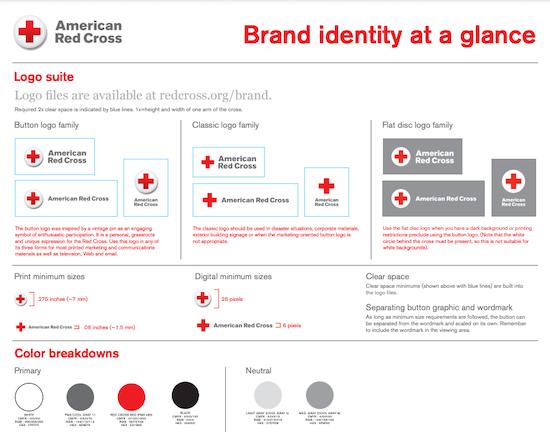 American Red Cross brand identity
