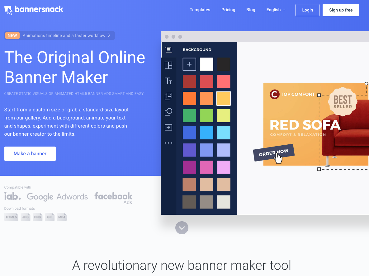 Bannersnack Homepage