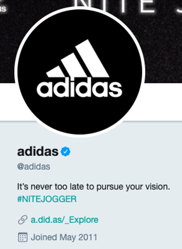 Adidas-Twitter-bio