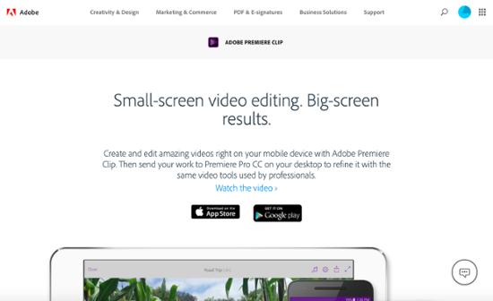 Adobe Premiere Clip video editing