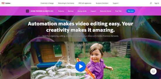 Adobe Premiere Elements video editing