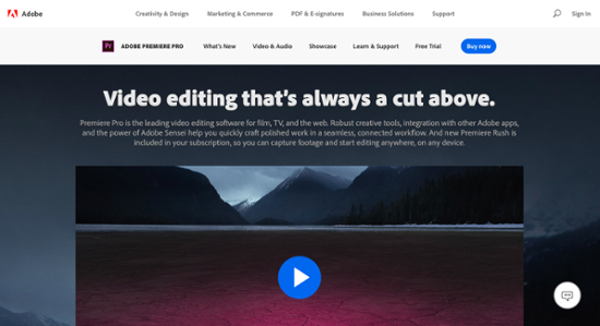 Adobe Premiere Pro video editing
