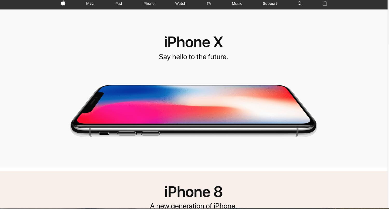 Apple's website