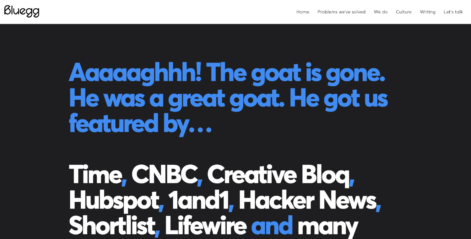 Bluegg 404 Page