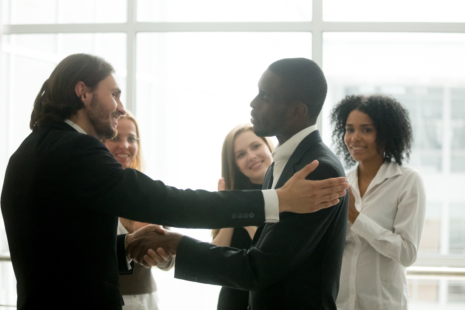 Businessmen shaking hands-1