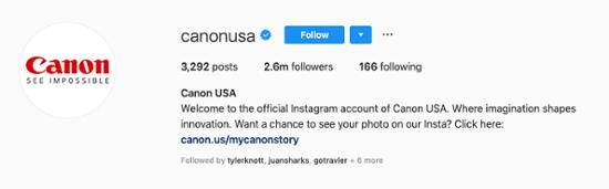 Canon-Instagram-Bio
