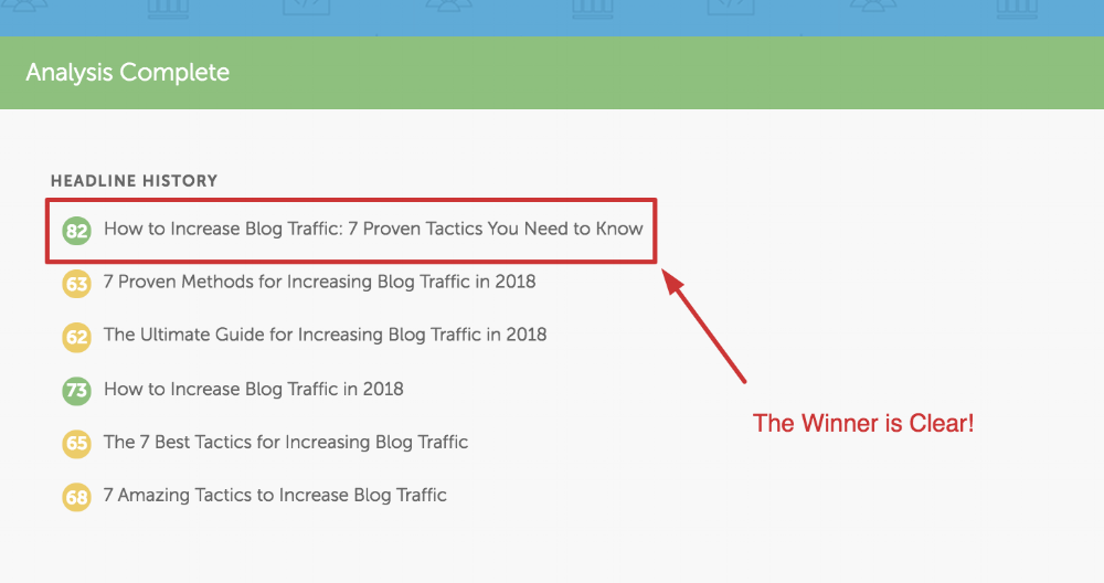 Analyzing Blog Headlines in CoSchedule Headline Analyzer Tool