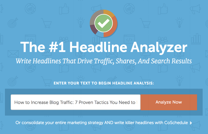 CoSchedule Headline Analyzer Tool