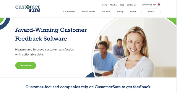 CustomerSure's feedback platform