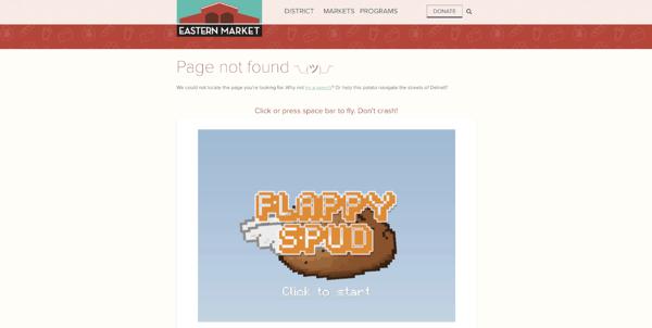 Eastern Market's 404 Page