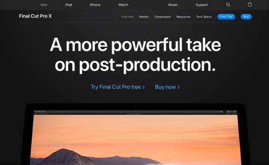 Final Cut Pro video editing