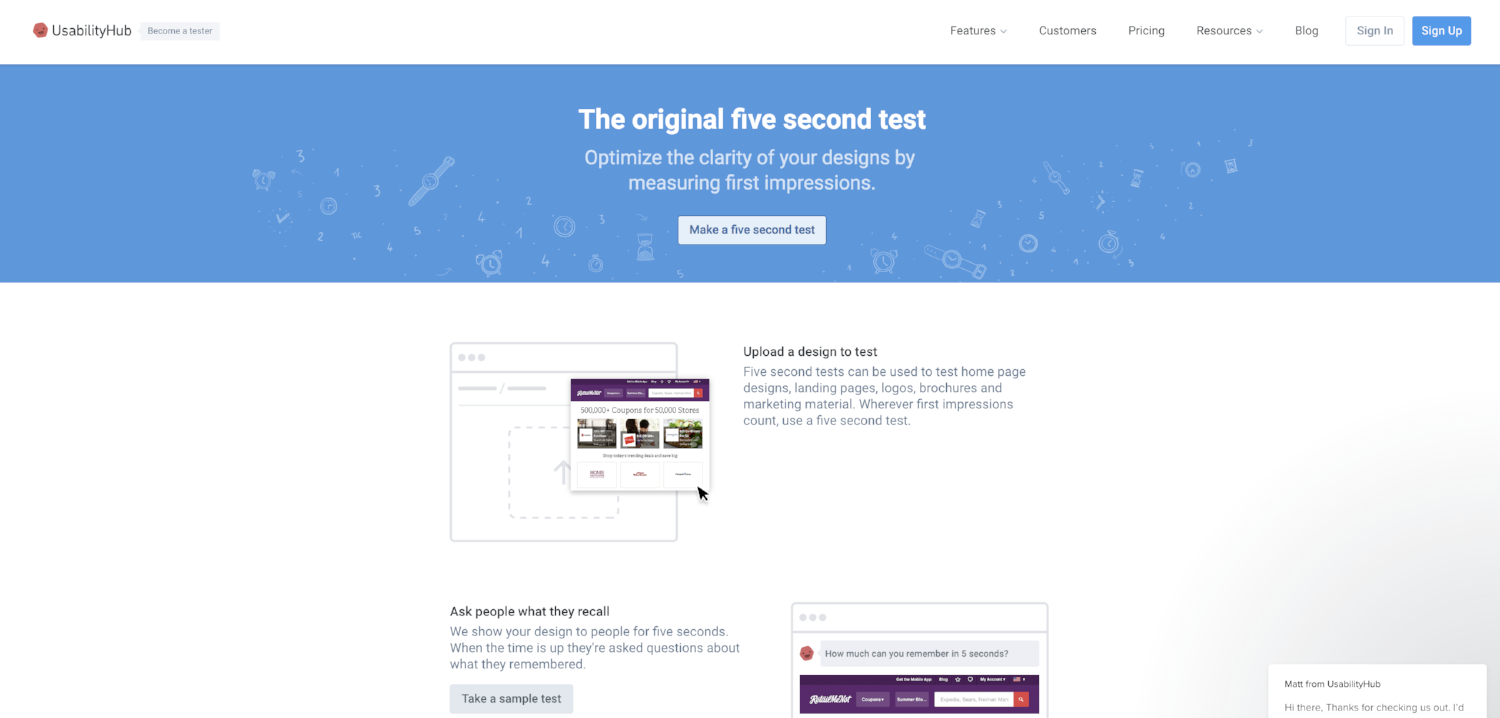 Five Second Test