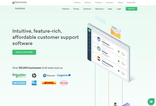 Freshdesk Homepage