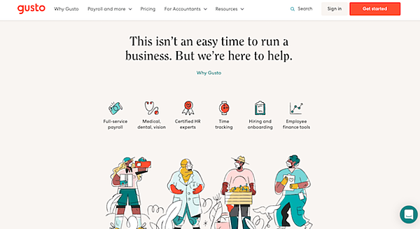 Gusto-website