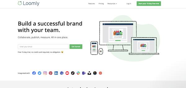 Loomly-homepage