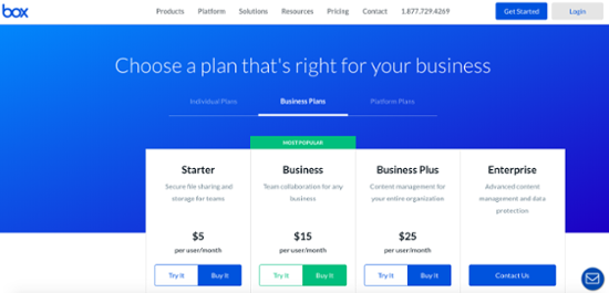 best pricing page examples