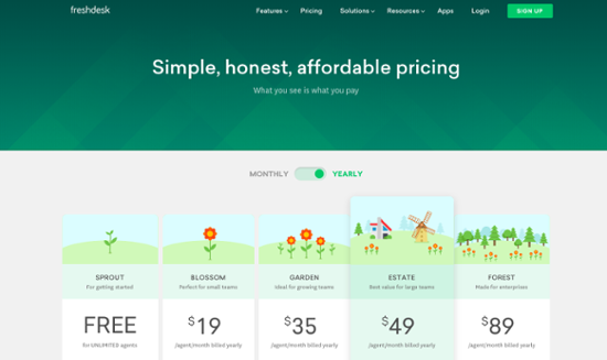 best pricing page designs