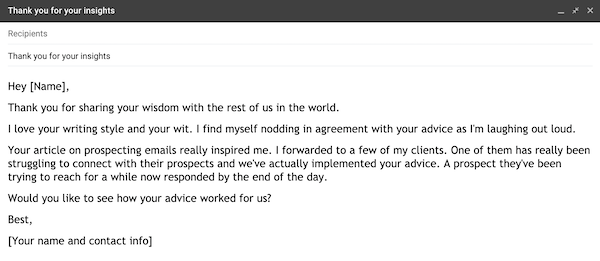 example of a prospecting email 2