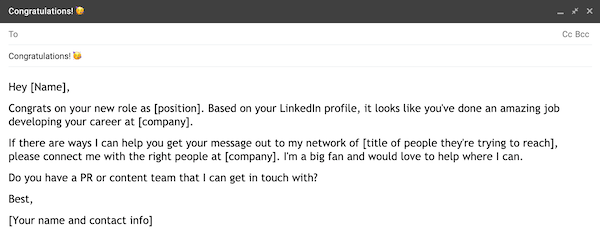 example of a prospecting email