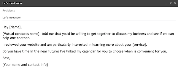 example of a prospecting email 3