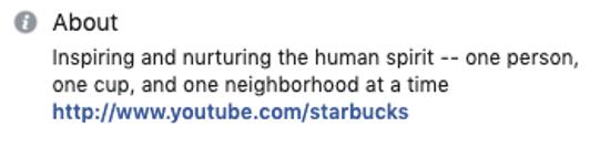 Starbucks-Facebook-Bio