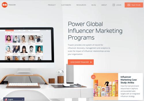 Traackr-homepage-2019