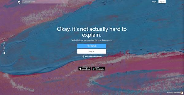 Tumblr-homepage