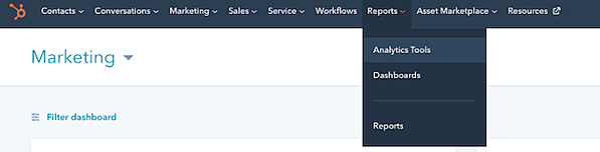 analytics-tools-Hubspot-menu