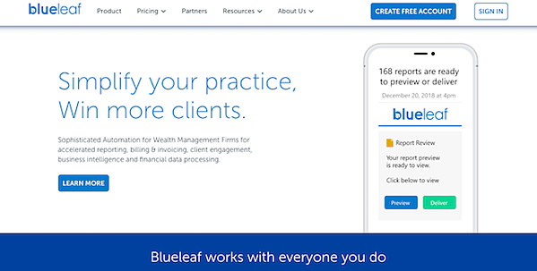 blueleaf-homepage