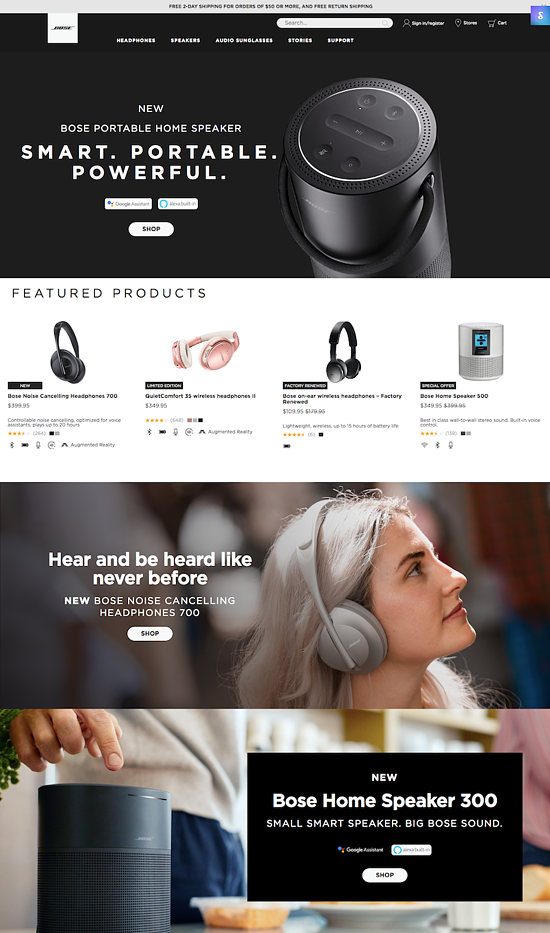 bose-website-design