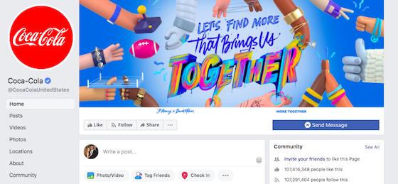 coca-cola-facebook-page