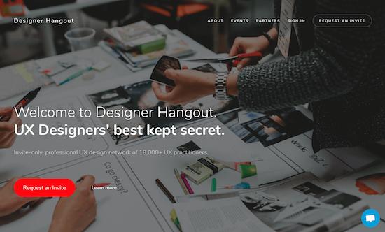 designer-hangout-homepage