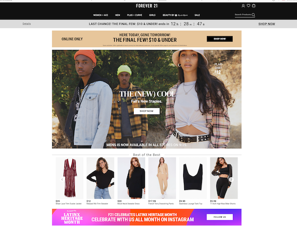 forever21-webpage