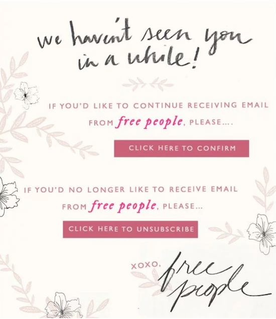 free-people-unsubscribe-page