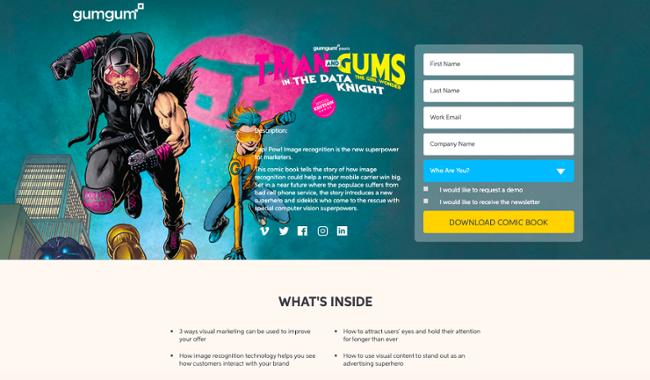 GumGum's Account Based Marketing comic book example