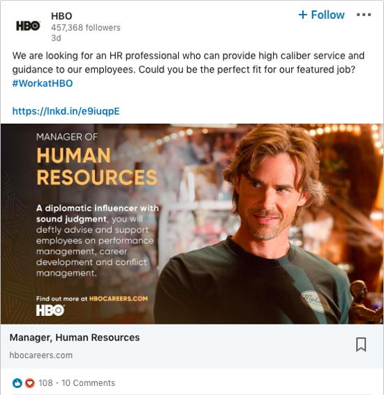 hbo-linkedin-job-ad