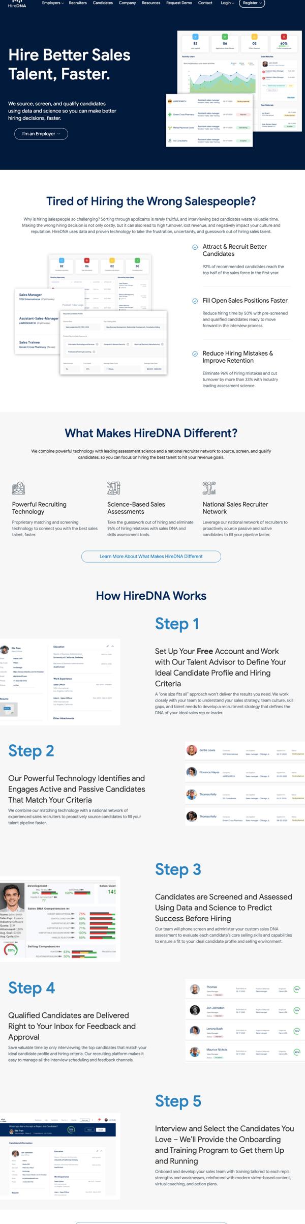 hiredna- homepage