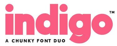 indigo-font