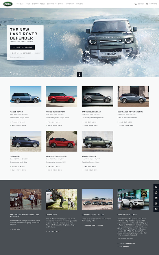 land-rover-usa-website-design