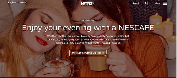nescafe-homepage
