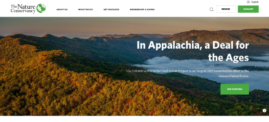 nonprofit-the-nature-conservancy-website