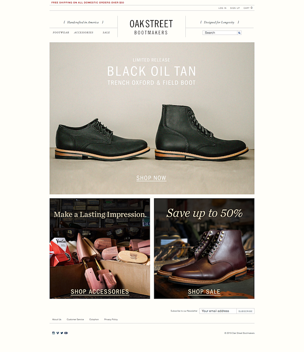 oakstreet-bootmakers-website-design