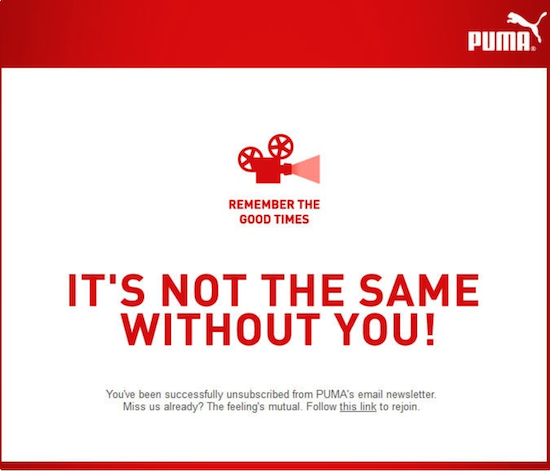 puma-unsubscribe-page