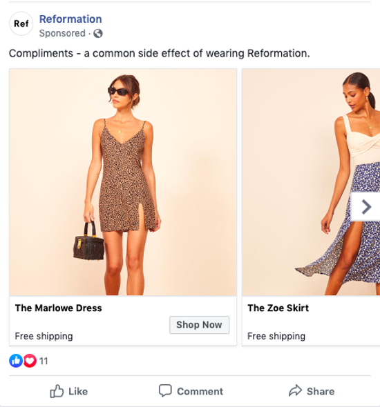 reformation-facebook-ad