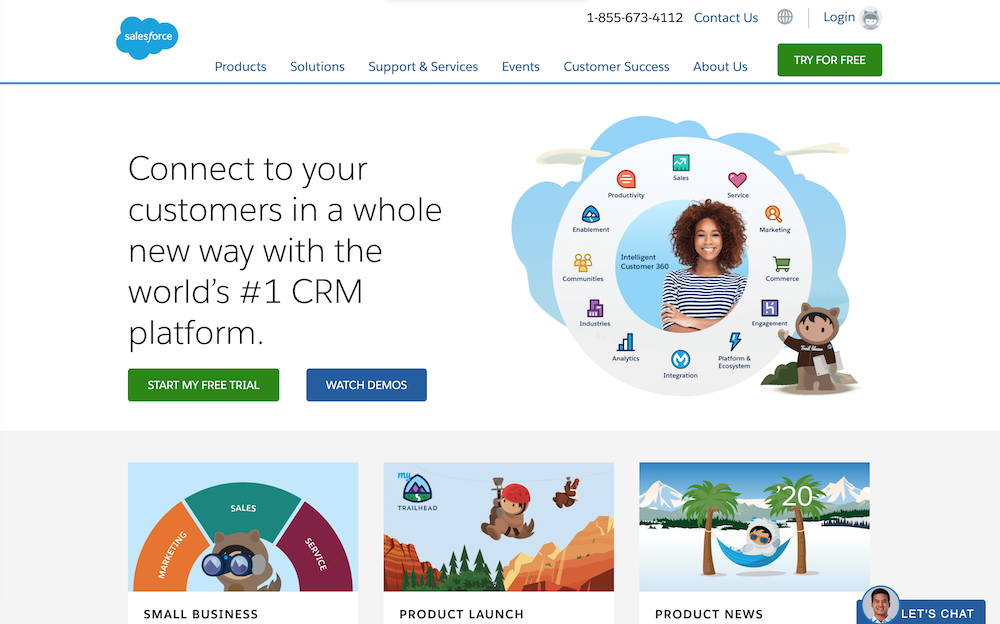salesforce-homepage
