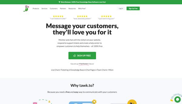 tawkto-homepage