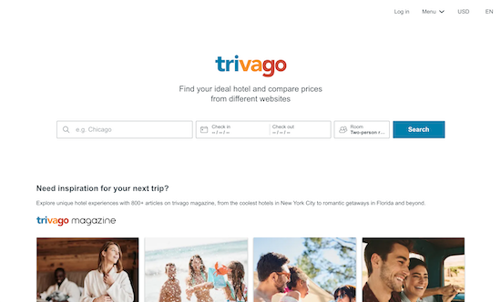 trivago-homepage