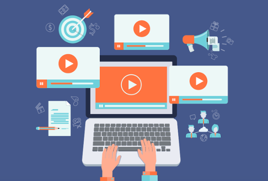 using video online, in emails, and social media